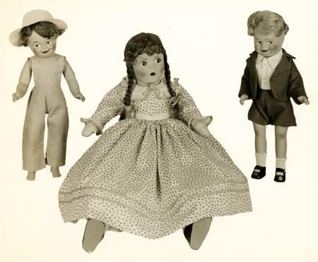 Three Marionettes by the Alexander Doll Company circa 1930s