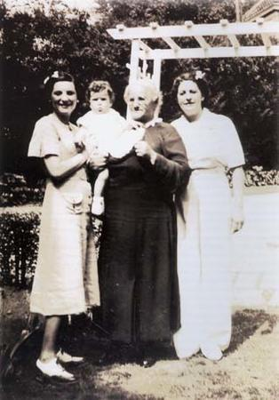Beatrice Alexander Behrman with her Daughter, her Granddaughter, and her Mother, circa the 1930s