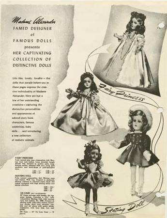 Excerpt From Catalogue for the 1942-1943 Line of Madame Alexander Dolls