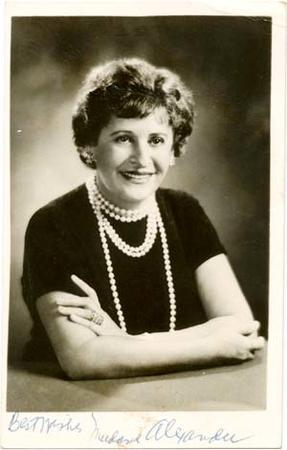"An Autographed Photo of ""Madame"" Beatrice Alexander, circa 1940s"