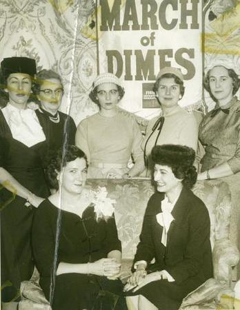 "Phyllis ""Flip"" Imber and the March of Dimes Ladies, circa 1950s"