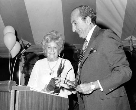 "Beatrice Alexander Receiving the ""Torch of Learning"" Award, circa 1970s"