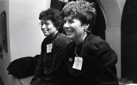 Barbara Dobkin and Eve Landau at Ma'yan's First Feminist Seder, March 1994