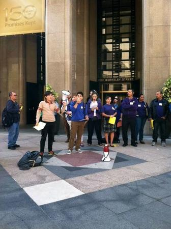 Erica Concors Speaking at Justice for Janitors
