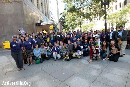 Moishe Kavod Justice for Janitors Group, September 24, 2012