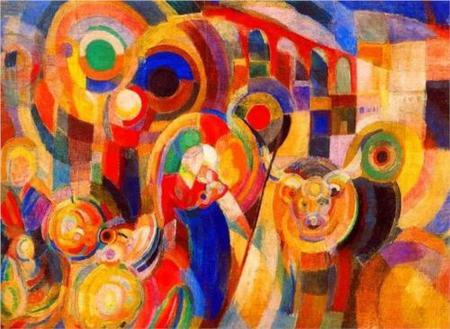 Market at Minho by Sonia Delaunay, 1915