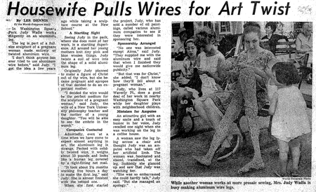 Article about Judy Wadia, 1964