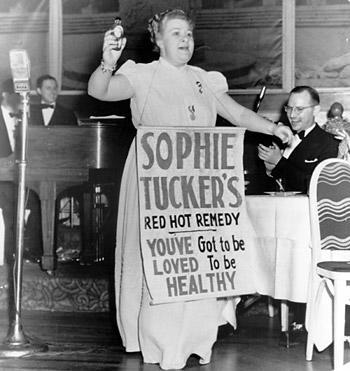 Sophie Tucker Performing Red Hot Remedy