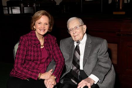 Carol Wise with Roswell Weil
