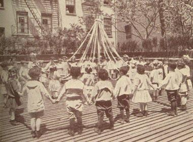 Children Playing on Henry Street's Roof, 1915