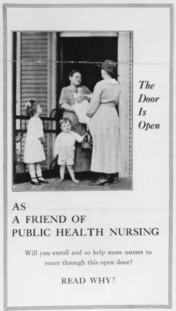 Public Health Nursing Fundraising Flyer circa 1942