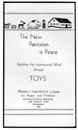 """The New Patriotism Is Peace,"" Women's International League for Peace and Freedom"