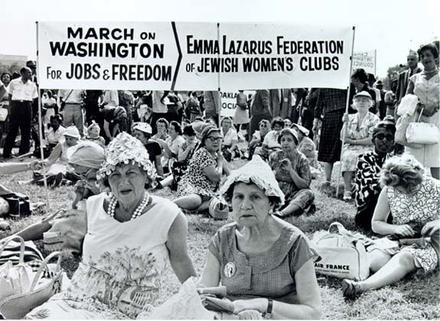 Emma Lazarus Federation of Jewish Women's Clubs at the March on Washington, August 28, 1963
