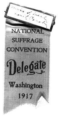 Gertrude Weil's Ribbon at the National Suffrage Convention, 1917