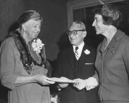 Justine Wise Polier and Eleanor Roosevelt, 1960