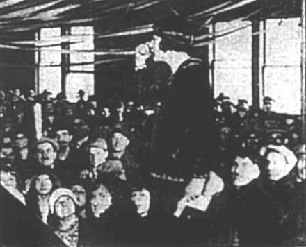 Justine Wise Polier Addresses Passaic Mill Workers, 1926