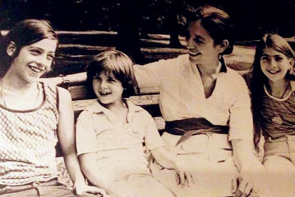 Ruth Messinger with her Young Children