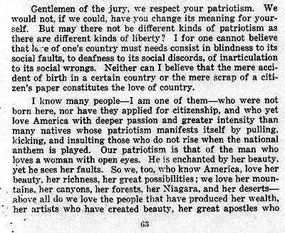 Excerpt From Emma Goldman's Speech to the Jury at Her Trial