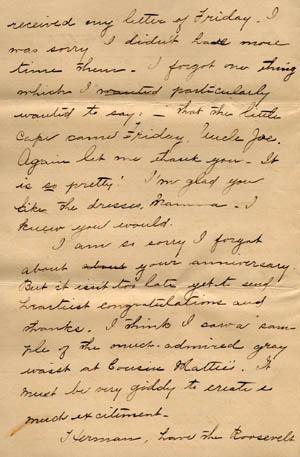 Letter from Gertrude Weil to her Family, March 29, 1896, page 2