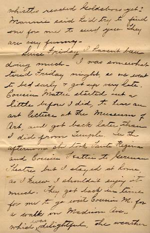 Letter from Gertrude Weil to her Family, March 29, 1896, page 3