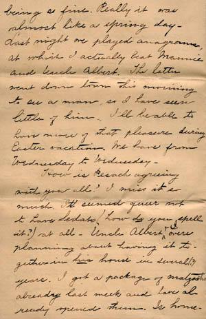 Letter from Gertrude Weil to her Family, March 29, 1896, page 4