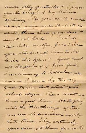 Letter from Gertrude Weil to her Family, March 29, 1896, page 5